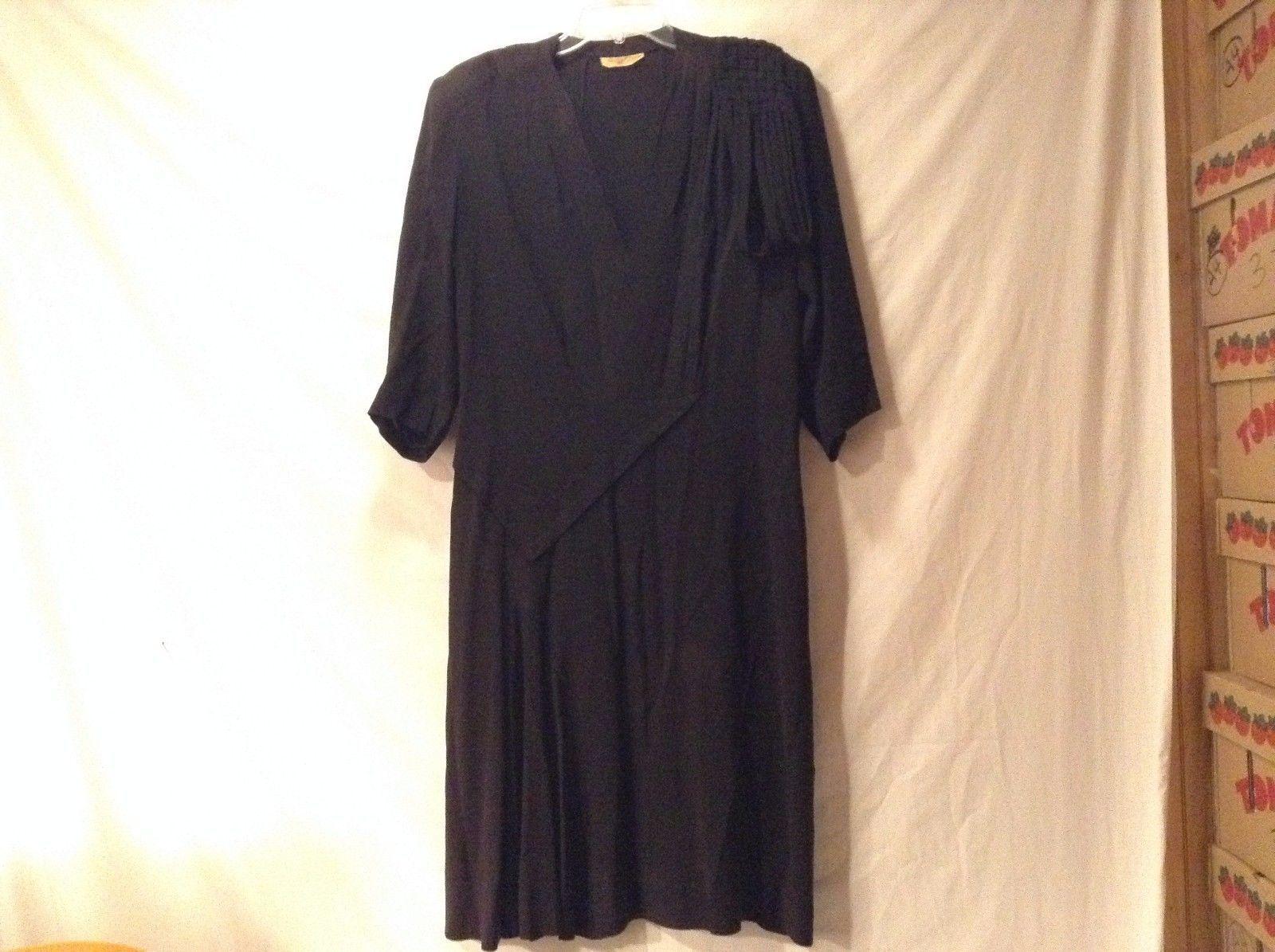 Great Condition Prim Fashion Franklin Simon Black Removable Belt Dress