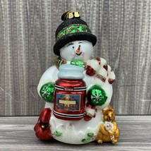 PRINCESS Solar Powered Snowman Ornament//Gift Tag NameStar NEW