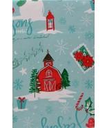 Christmas Walking in a Winter Wonderland Vinyl Flannel Tablecloth 52 x 7... - $18.80