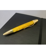 Yellow w/ White Accents Acrylic Ballpoint Pen (Uses Cross Refills) - £19.64 GBP