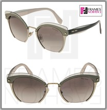 Miu Miu Rasoir 53T Reveal Layer Peach Beige Green Cat Eye Flat Sunglasses MU53TS - $242.55