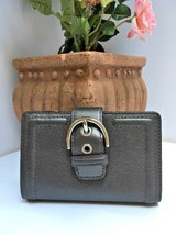 Coach Campbell Wallet Leather Buckle Medium Clutch F50090 Gray W21 - €31,21 EUR