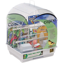 Prevue Pet  White Round Roof Small Bird Cage Kit Small 048081911020 - £42.67 GBP