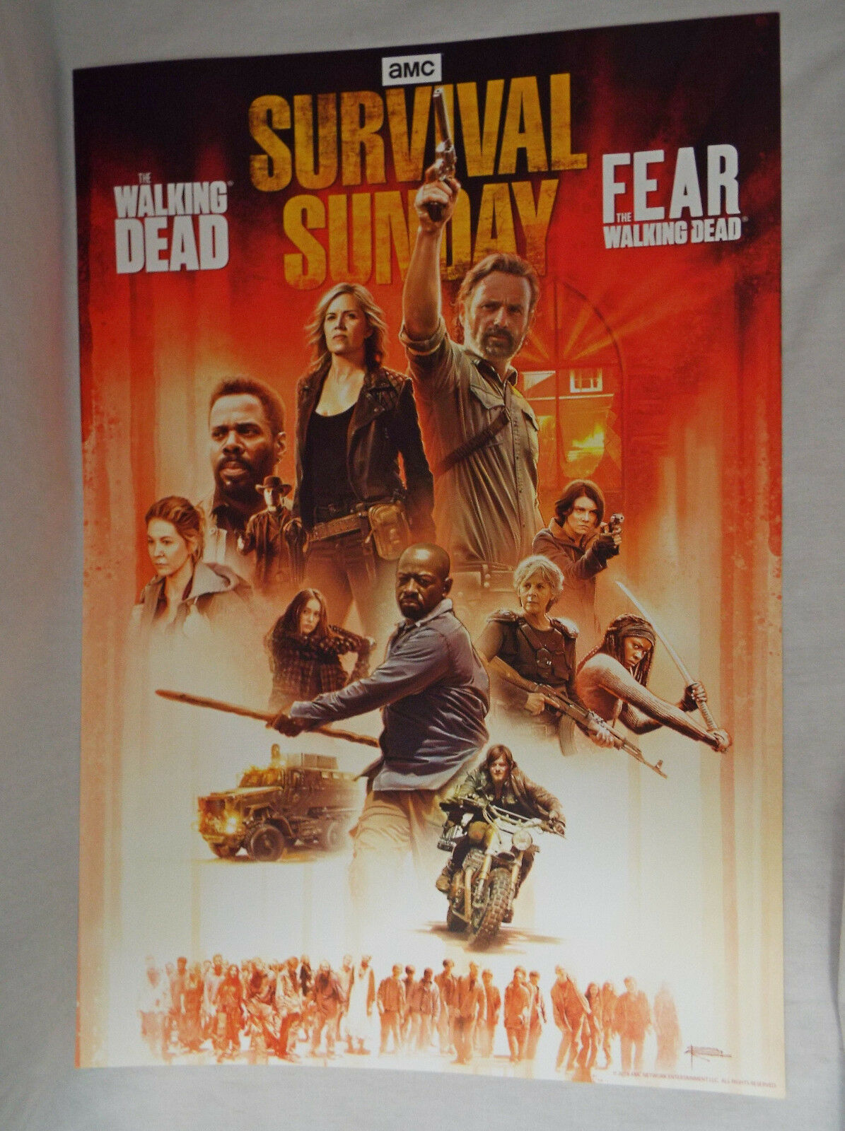 Primary image for AMC Survival Sunday Official Poster The Walking Dead and Fear TWD April 15 2018