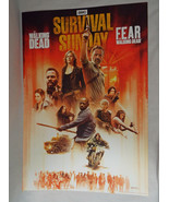 AMC Survival Sunday Official Poster The Walking Dead and Fear TWD April ... - $11.57