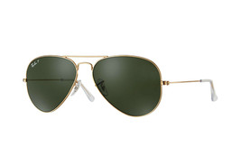 Ray Ban Sunglasses Aviator RB3025 001/58 Gold Frame w/Green Polarized lens - $159.95