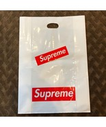 Supreme NY Plastic Tote Bag Red Box Logo LARGE Shopping Bag and Sticker - $16.75