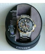 Men's Citizen EcoDrive Chronograph Watch B620-S117020 Two-Tone Band WR200 - $151.99