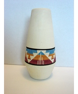 "Sioux Pottery: White 10 "" Vase Signed GAYLA S.P.R.C.S.D Native American ... - $39.90"
