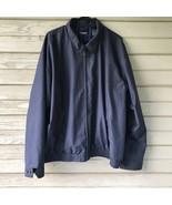 Mens XXL 2XL CHAPS Jacket Coat Zip Dark Blue Outerwear Fall - $36.00