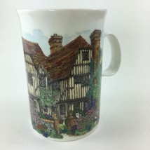 Dunoon Tudor Cottage House Sue Scullard Stoneware Mug Cup Made in Scotla... - $19.59
