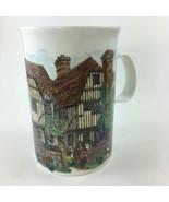 Dunoon Tudor Cottage House Sue Scullard Stoneware Mug Cup Made in Scotla... - $19.59