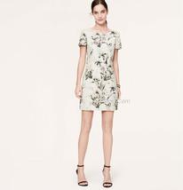 Nwt Ann Taylor Loft Floral Linen V-BACK Dress Cute Comfy Flattering Dress Sz 4/6 - $59.99