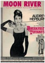 Sheet Music - Moon River ~ Breakfast At Tiffany's ~ Audrey Hepburn ~ 1961 - $8.86