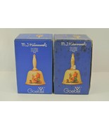 Goebel M.I. Hummel Annual Bell Lot of 2 First Edition in Bas-Relief 1978... - $28.84