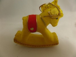 YELLOW /RED HORSE ROCKING HORSE VINTAGE ORNAMENT - $14.00
