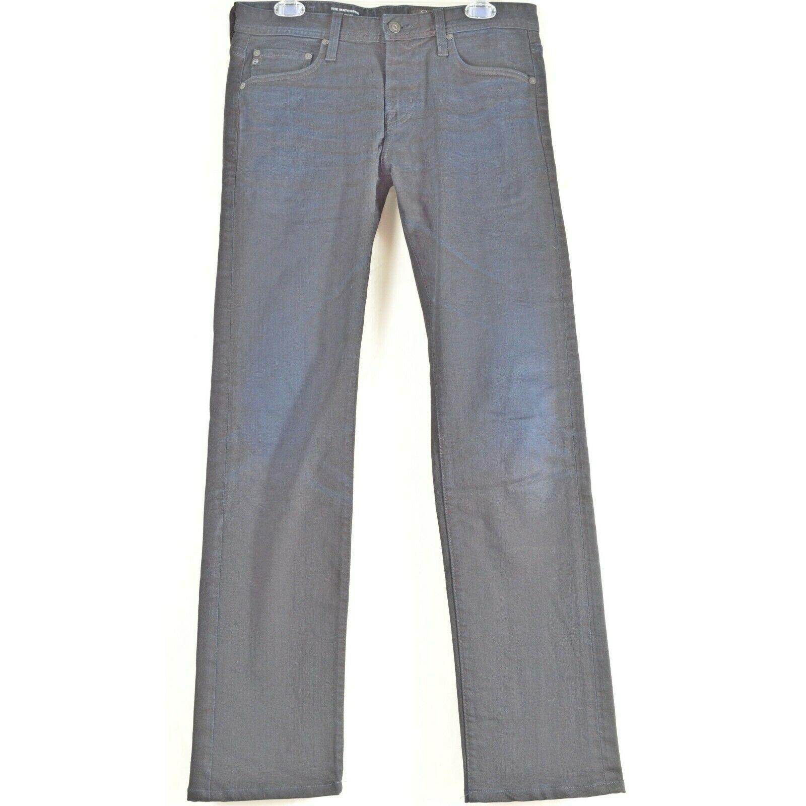 AG Adriano Goldschmied jeans 30 x 34 men Matchbox dark Slim Straight tall unique