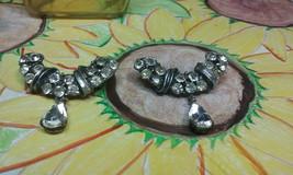 "Vintage Jewelry: 2 @ 1 5/8"" Rhinestone Brooch 170815 - $13.85"
