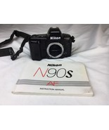 Nikon N90S 35mm SLR Film Camera Body Only - Plus Manual And Strap - $67.31