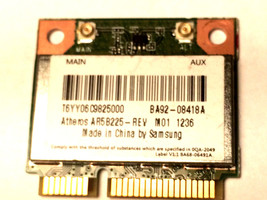 Samsung NP270E5E WB225 WiFi Wireless Card AR5B225 BA92-08418A - $14.11