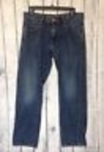 American Eagle Slim Straight Blue Jeans Mens 30x30 Dark Wash 30X27 100% ... - $13.99
