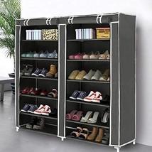 Shoe Rack Organizer Closet Tower Storage Grey Cover Waterproof Nonwoven ... - $814,05 MXN
