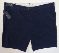 Polo Ralph Lauren Dark Blue Classic Fit Flat Front Cotton Shorts Men's NWT - $86.24