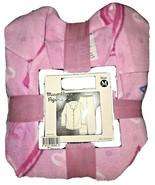 Womens Microfleece Hearts Pajama Set Size Medium Pink Blue Hearts - $18.00