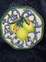 Retired Fitz Floyd FLORENTINE FRUIT Pear Pomegranate Hanging Canape Plat... - $17.82
