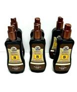 6xAustralian Gold Spray Gel SPF 8 Sunscreen w/Instant Bronzer 8 fl oz Lo... - $57.09
