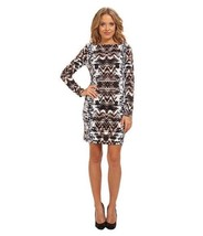 VINCE CAMUTO Three Quarter Sleeve Printed Ponte Shift Dress(Size 4) NWT $148.00 - $45.82