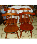 Set of 4 Mid Century Maple Dinette Chairs / Sid... - $699.00