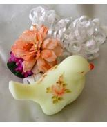 3444 Fenton Roses on Custard Small Bird  - $35.00