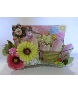 "Graphic 45 handmade mini album SECRET GARDEN w/box 9""X6"" flowers embelli... - $69.30"