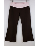 BEYOND YOGA PANTS CAPRI CROPPED WORK OUT ACTIVE WOMEN'S SMALL BROWN PINK - $24.49