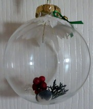 Handcrafted Glass Ball Ornaments Blue Bird - $2.48
