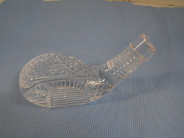 Waterford Crystal Glass Golf Club Head Paperweight Etched Marking Clear  - $32.36