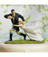"""A Love Match"" RUGBY Couple Wedding Cake Topper... - $44.13"