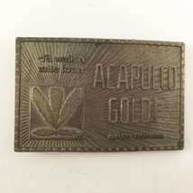 Vintage 1970s Acapulco Gold Belt Buckle Dark Br... - $27.71