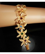 Trifari Bracelet Vintage Flowers starfish Mothers Childrens Birthstones ... - $125.00