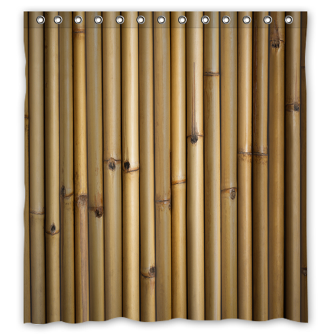 Primary image for Bamboo Pattern #03 Shower Curtain Waterproof Made From Polyester