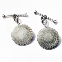Silver Antique Edwardian Style Cufflinks, Mens New Handcrafted Cuff Link... - $21.24