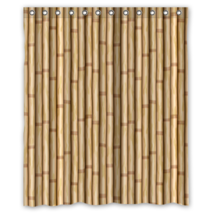 Bamboo Pattern #05 Shower Curtain Waterproof Made From Polyester - $29.07+
