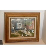 H. Hargrove Serigraph Oil  Painting on Stretc... - $24.99