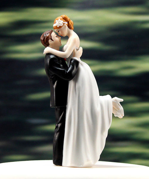 """True Romance"" Bridal Couple Wedding Cake Topper CUSTOMIZATION & VEIL AVAILABLE"