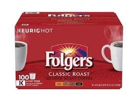 Folgers Coffee Classic Roast 100 K-Cup Keurig Hot Single Serve Brewing P... - $55.49