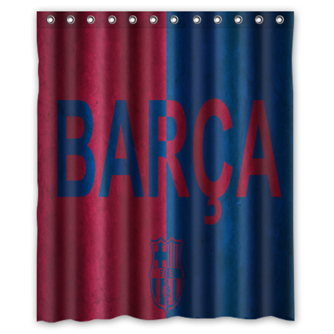 Primary image for Barcelona Football Club Shower Curtain Waterproof Made From Polyester