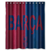 Barcelona Football Club Shower Curtain Waterproof Made From Polyester - $29.07+