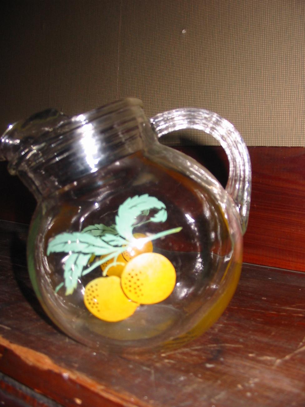 Vintage Glass Ball Tilt Juice Pitcher