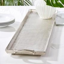Tozai Long Silver Textured Decorative Aluminum Tray - £233.48 GBP